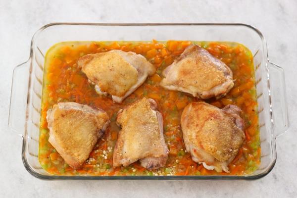 рецепт курица с лимоном перловкой в духовке