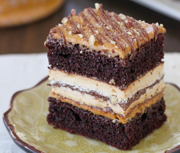 Шоколадный торт с фундуком рецепт с фото