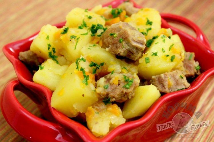 Тушеная картошка с мясом в мультиварке рецепты пошагово