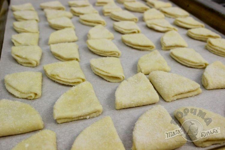 Творожное печенье гусиные лапки с фото пошагово в
