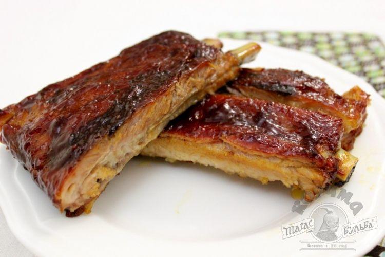 Ребрышки свиные барбекю рецепты фото
