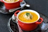 Крем суп с бататом и лебедой