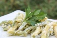 Зеленая фасоль с чесноком и майонезом