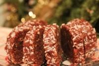 Шоколадная колбаска с лукумом