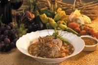 Жаркое с грибами и фасолью