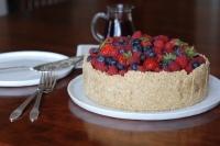 Замороженный торт с фруктами