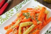 Тушеная морковь с пастернаком