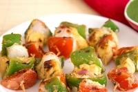 Овощные шашлычки с домашним сыром Панир