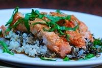 Филе лосося с диким рисом