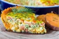 Картофельный пирог с лососем