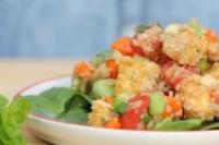 Салат с фасолью и киноа